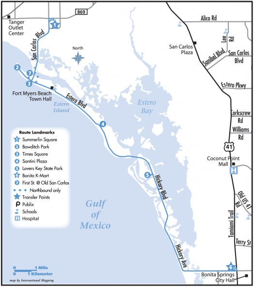 Fort Myers Beach Trolley Route Schedule Fare Details In Fort
