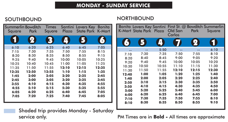 Fort Myers Beach Trolley Route Schedule Amp Fare Details In